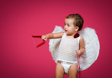 Cupidon de bébé Photos libres de droits