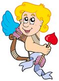 Cupidon de cachette avec la proue et la flèche Photographie stock libre de droits