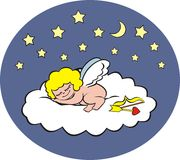Cupidon de sommeil Photographie stock libre de droits