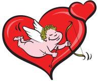 Cupidon et coeurs illustration stock