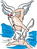 Cupidon, jour de valentines illustration de vecteur