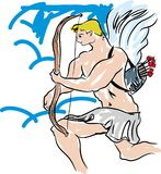 Cupidon, jour de valentines Photos stock