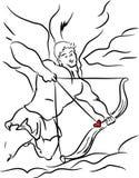 Cupidon, jour de valentines illustration libre de droits
