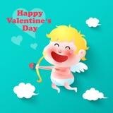 Cupidon mignon, valentines, vecteur Photos libres de droits