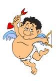 Cupidon potelé du jour de Valentine Photo stock