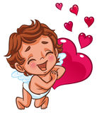 Cupidon souriant heureusement Photos stock