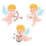 Cupidos bonitos dos desenhos animados Imagem de Stock