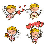 Cupidos lindos de la historieta Fotos de archivo