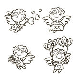 Cupidos lindos de la historieta Fotografía de archivo