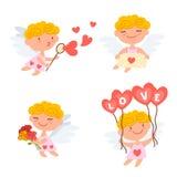 Cupidos lindos de la historieta Imagen de archivo