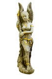 Cupidostandbeeld op witte Backgroundà ¹ ƒ wordt gefotografeerd die Stock Afbeeldingen