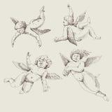 Cupids. Änglar vektor illustrationer