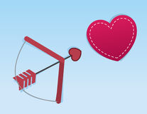 Cupids Arrow Heart Royalty Free Stock Images