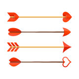 Cupids arrows Stock Image