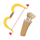 Cupids bows cartoon icon Royalty Free Stock Photography