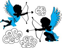 Cupids collection Royalty Free Stock Images