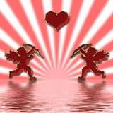 Cupids dei biglietti di S. Valentino Immagine Stock Libera da Diritti