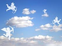 Cupids dei biglietti di S. Valentino Fotografia Stock Libera da Diritti