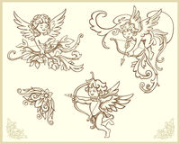 Cupids illustration Royalty Free Stock Image