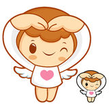 Cupids the Love is gesture. Angel Character Design Series. Stock Images