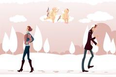 Cupids-pranksters Royalty Free Stock Photo