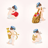 Cupids set Royalty Free Stock Image