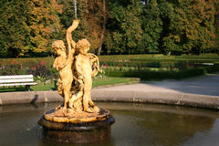 Cupids trumpet fountain Royalty Free Stock Image