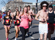 Cupids Undie Runners Washington DC Stock Photo