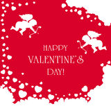 Cupids on Valentines background Stock Image