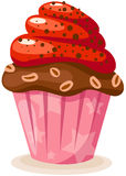 Cupkuchen Lizenzfreie Stockfotografie