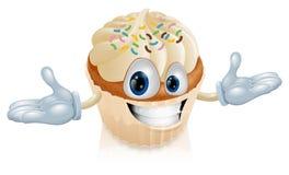 Cupkuchen-Maskottchenabbildung Lizenzfreie Stockfotografie
