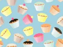 Cupkuchenhintergrund Stockbild