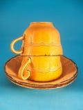 Cuple de la taza Imágenes de archivo libres de regalías