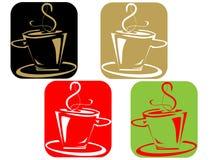 Cuple do café ilustração royalty free