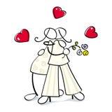 Cuple lesbiano divertido ilustración del vector