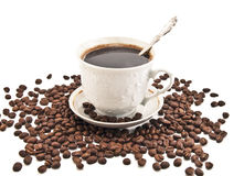 Cupof coffee. Cup of coffee isolated on white Stock Photography