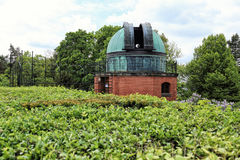 Cupola of the astronomy observatory with the telescope Stock Photography