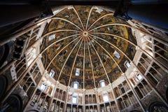 Cupola baptistery w Parma mieście Fotografia Royalty Free