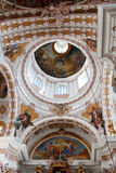 Cupola in Baroque St. James Cathedral, Innsbruck. Cupola in Baroque Style St. Jakobs Dom (St. James Cathedral) in Innsbruck, Austria royalty free stock images