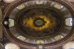 Cupola of baroque st. Peters church in Vienna Royalty Free Stock Photo