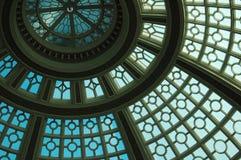 Cupola blu del lucernario Immagini Stock
