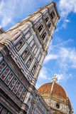 Cupola of Brunelleschi and Giotto`s tower Bell in Florence, Ital Royalty Free Stock Photos