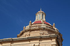 Cupola of cathedral. In Malta stock photo