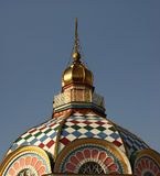 Cupola of church. Zenkov Cathedral in Almaty. Kazakhstan royalty free stock image