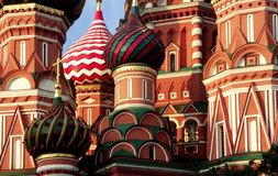 Cupola of church. Cupola of st.basil Cathedral at Morning. Moscow, Russia stock images