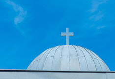 Cupola or Cupula in a Church Beautiful Blue Sky Stock Images