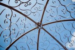 Cupola d'acciaio decorativa del gazebo Fotografia Stock