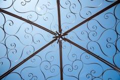 Cupola d'acciaio decorativa del gazebo Fotografia Stock Libera da Diritti