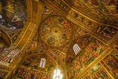 Cupola decorata stordimento della cattedrale di Vank, Ispahan, Iran immagine stock libera da diritti