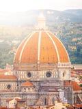 Cupola del Brunelleschi van Florence Cathedral, formeel Cattedrale-Di Santa Maria del Fiore Florence, Italië royalty-vrije stock fotografie